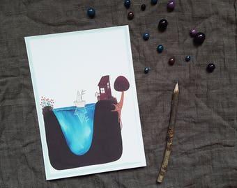 "Illustration - Paradise Island - home""-"