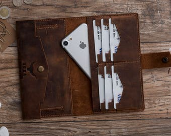 Leather İphone 7 Wallet, Leather İphone 7 Plus Wallet, İphone 7, İphone 7 Plus, Leather İphone 7 Case, Leather, Fathers Day Gift,#SONİS-İ