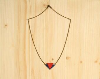 """Leather collar true """"Achilles"""" Orange and blue"""