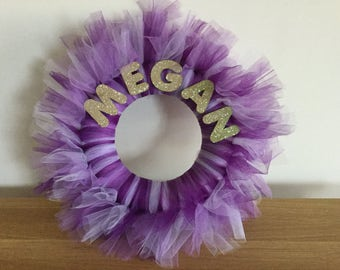 Tulle wreath, party decor
