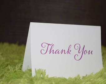 Thank You Cards - Purple