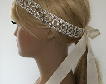 EXPRESS SHIPPING Rhinestones headband, bridal headband, headpiece, wedding hairband, Rhinestone Headpiece, Bridal Hair