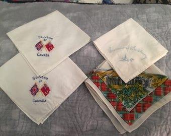 Souvenir Vintage Handkerchiefs