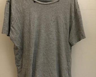 Distressed Gray Shirt