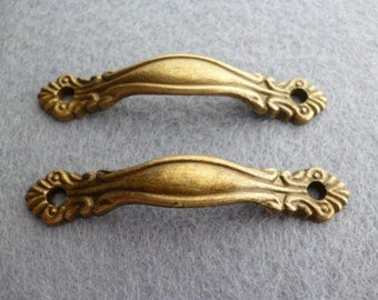 Kit Vintage Style Brass Cabinet Pulls. Handles furniture of 63 x12 mm pack 2 pcs