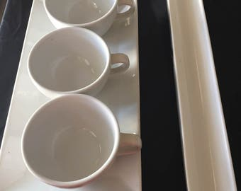 Tea cups or coffee with platter