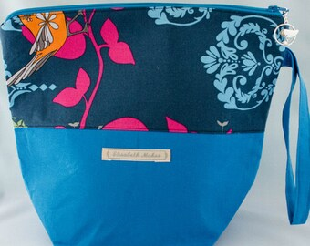 Pink and Blue  Project Bag, Medium