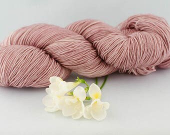 Antique Mauve-Hand dyed yarn