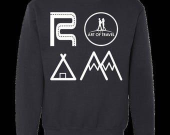 ROAM Men's Crewneck Premium Ringspun Cotton Sweatshirt