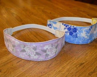 Womens Reversible Fabric Headband, Handmade