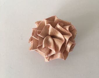 Men's Rose gold Polyester Lapel Flower boutonniere, Handmade In USA.  For weddings, Father's Day, Proms, gift giving, special occasion