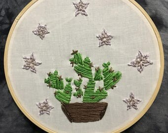 Heart Cacti Embroidery
