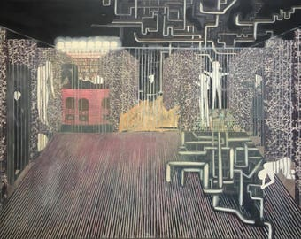 "original oil painting ""prison of freedom"" surrealism art"