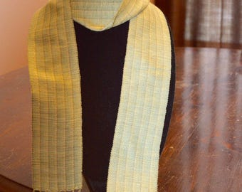 Handwoven rayon scarf - 50 in x 2.5 in