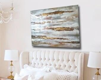 Original art, Silver painting,  glass look epoxy resin coating
