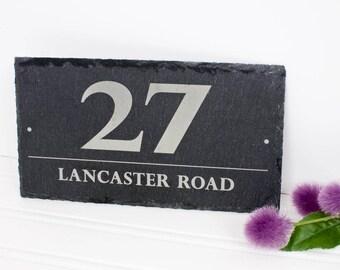 Personalised Door Number on Slate