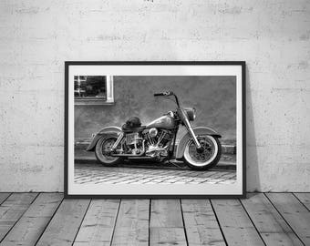Motorbike Print, Oldtimer, Vintage Photo, digital print, Black-white, Wall Art Photgraphy, Printable Poster, Digital Download, 3 JPG's