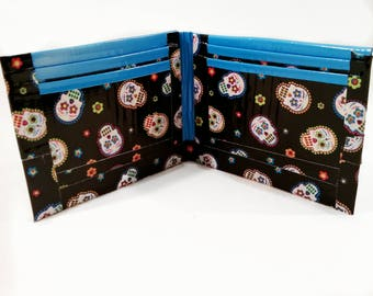 Sugar skull duck tape wallet duck tape wallet duck tape craft duck tape accessory duct tape wallet duct tape craft duct tape