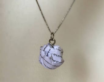 The Book Thief - Paper Ball Pendant