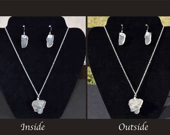 Authentic Frosted White Sea Glass Jewelry