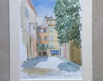 Aix-en-Provence watercolor painting painting watercolor waterverf