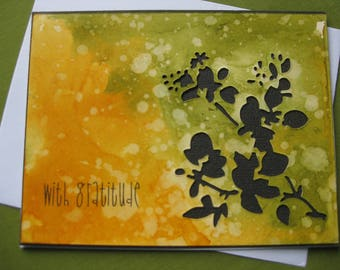 Thank You Cards - With Gratitude- Floral