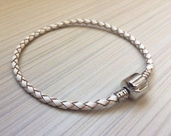 1pcs real leather Pandora Style Bracelet / Real leather bracelet Pandora style