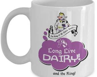 Milk mug - Cow mug - Dairy mug