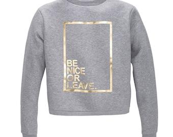 Sweatshirt, limited edition, gold print