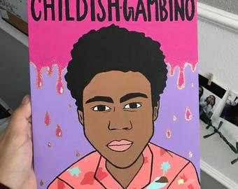 Childish Gambino // Because the Internet painting