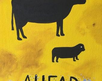 Animals ahead