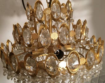 Crystal chandelier Baroque 70 years