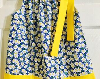 Girls Springtime Daisy Pillowcase Dress