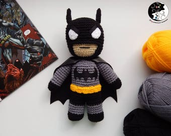 Batman Amigurumi - Crochet Doll - DC Comics - Knitted Superhero