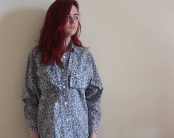 Vintage Quirky Patterned Shirt