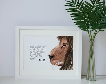 CS Lewis Quote Narnia Watercolour Giclee Print A4 Wall Art Home Decor Contemporary Wildlife Nature Art Print Typography Print