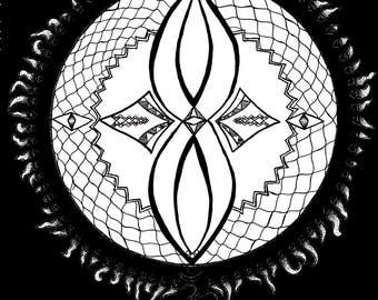 Aum Mandala Digital Print