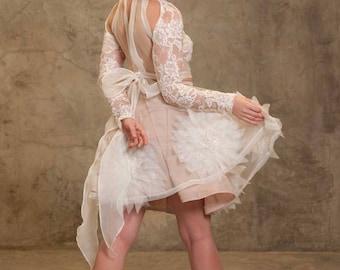 Amélie wedding crop top and skirt