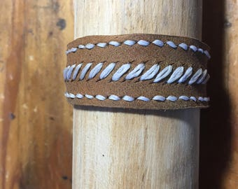 Re-Purposed Baseball Glove Leather Bracelet