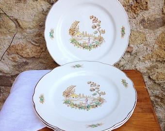 Porcelain plates of Digoin and Sarreguemines Vieux Marseille