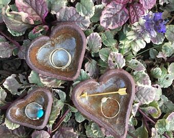 Ceramic Heart Ring Dish Trio