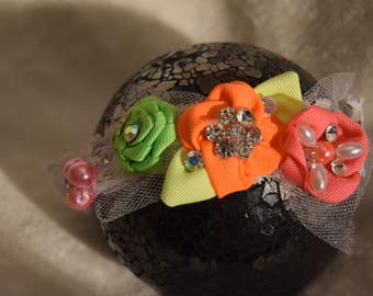baby girl headband multicolor flower