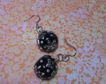 Ornate Ball Bead Earrings