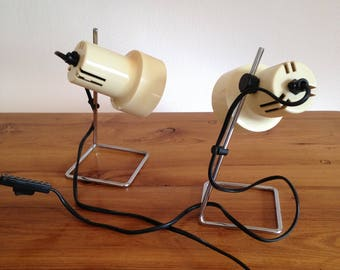 Pair of lamps photography - vintage - 70's - France