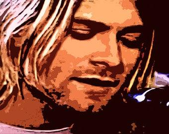 Kurt Cobain Nirvana Canvas Art Print