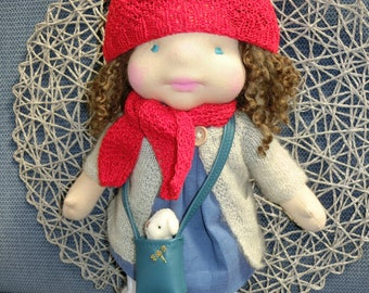 Waldorf inspired doll doll, handmade doll, handmade doll, Golden dragonfly