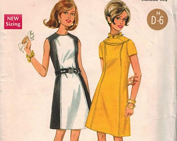 Butterick 4795 Madmen/mod Dress Pattern Sz 12 bust 34