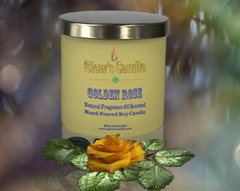 Golden Rose Soy Wax Candle