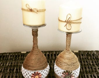Shabby Chic Unique Candle Holders