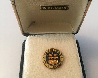 Catholic Knights of St. George Lapel Pin with 10K gold inlay